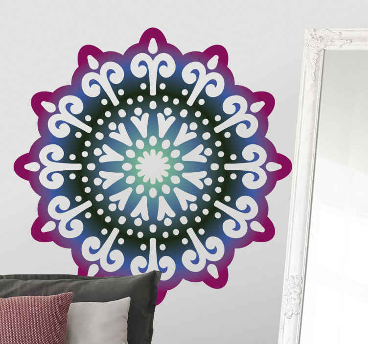 TENSTICKERS. 点線の願いマンダラ花のウォールステッカー. 点線の願いマンダラ花のウォールステッカー。リビングルーム、ベッドルーム、その他お好みのスペースに最適な壁の装飾。