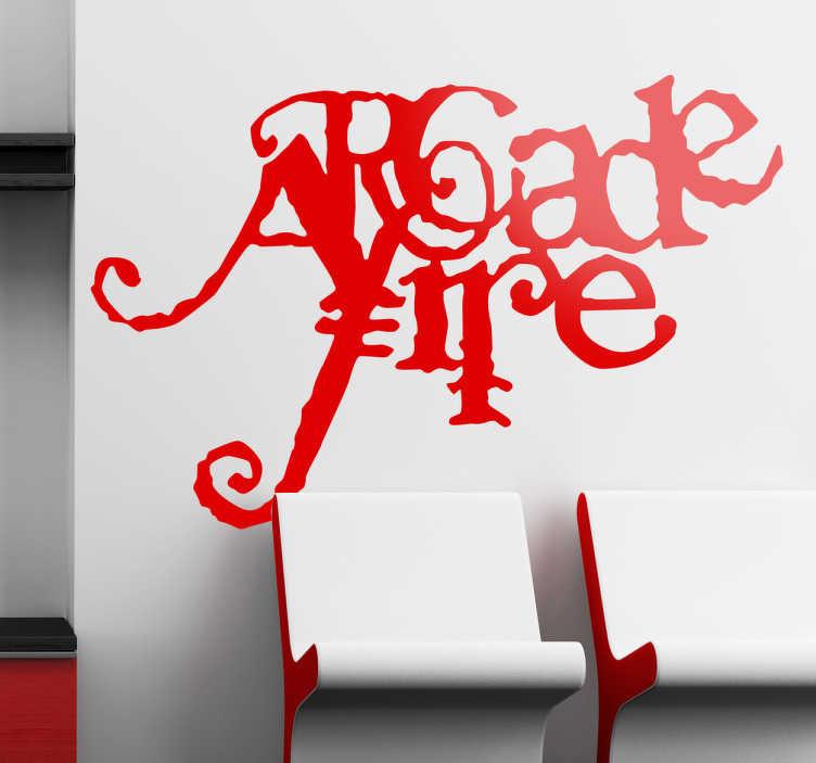 Sticker decorativo Arcade Fire