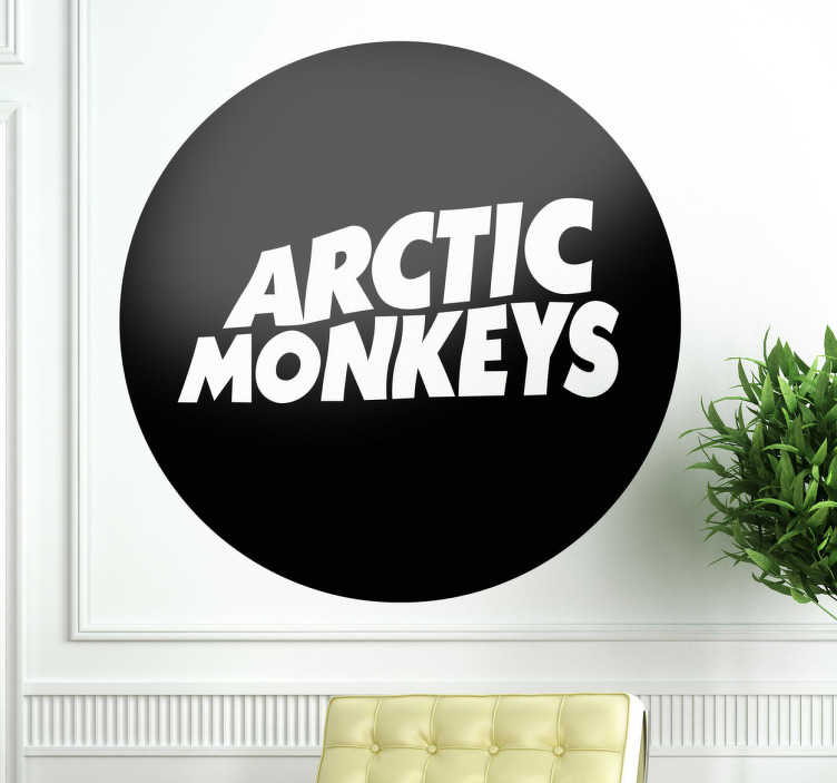 TenStickers. Arctic Monkeys Wall Sticker. A logo sticker displaying the Arctic Monkeys emblem! Ideal wall decal for those that love this band are true fans!
