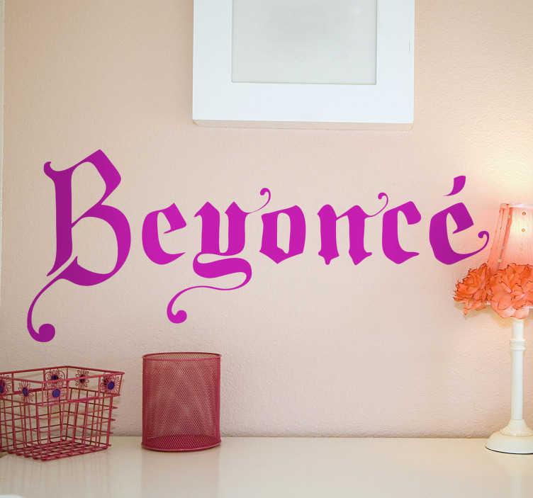 Vinilo decorativo Beyoncé