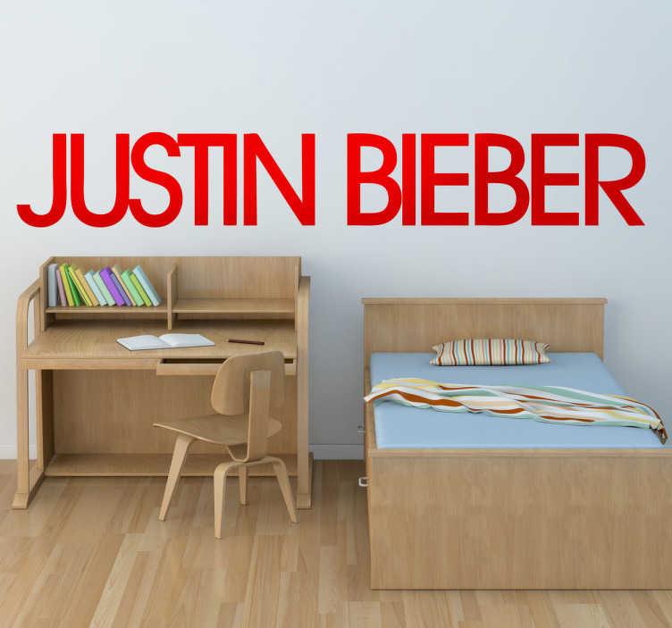Naklejka dekoracyjna Justin Bieber logo