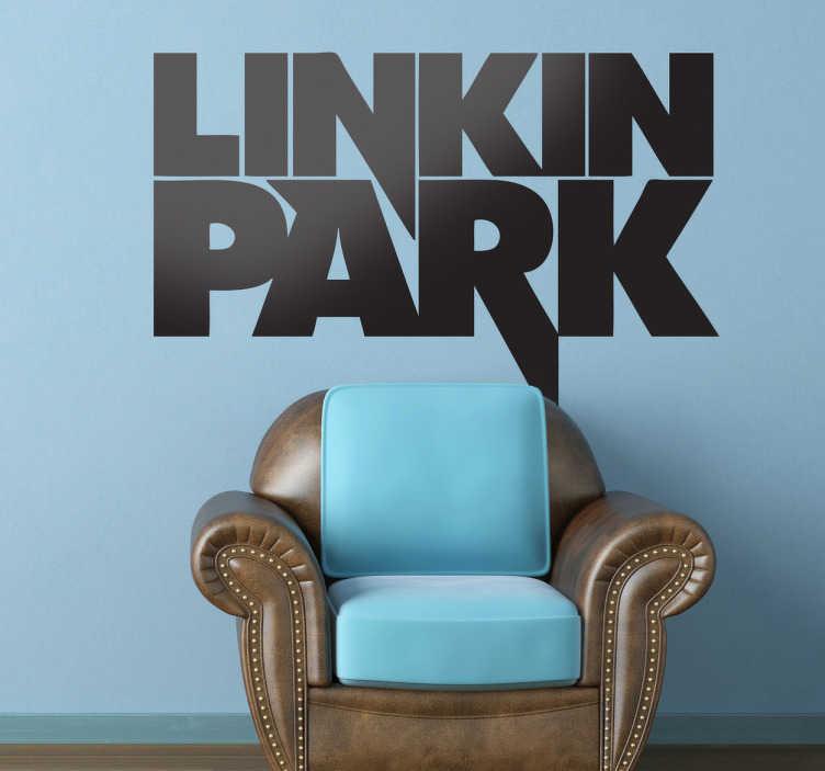 TenVinilo. Vinilo decorativo Linkin Park. Para los más fans del esta banda de metal y rap, su nombre en adhesivo.