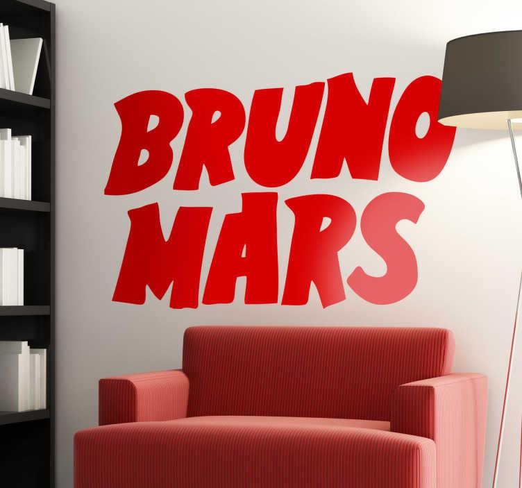 TenVinilo. Vinilo decorativo logo Bruno Mars. Tipografía característica de este exitoso músico estadounidense contemporáneo en vinilo.