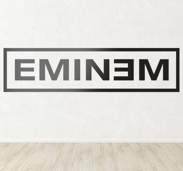 TenStickers. Sticker décoratif logotype Eminem. Logo adhésif Eminem, idéal pour tous les fans du rappeur.