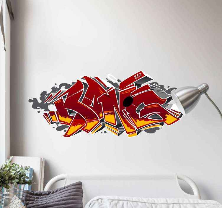 Aufkleber Set Tapete 3d Graffiti Tenstickers