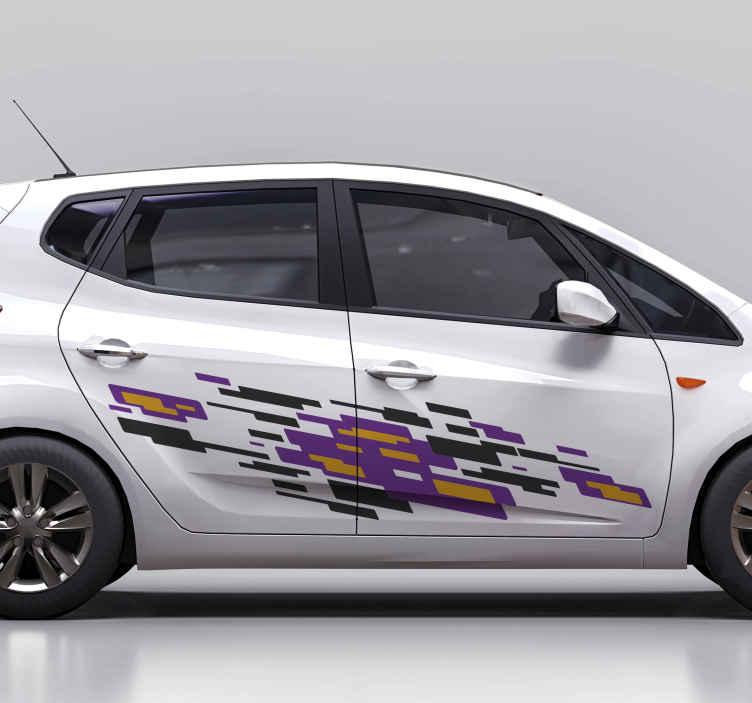 TenVinilo. Vinilo para coches diseño llamas deportivo. Decora tu coche con este vinilo para coches con llamas deportivas para decorar tu coche de carreras. Fácil de colocar ¡Envío exprés!
