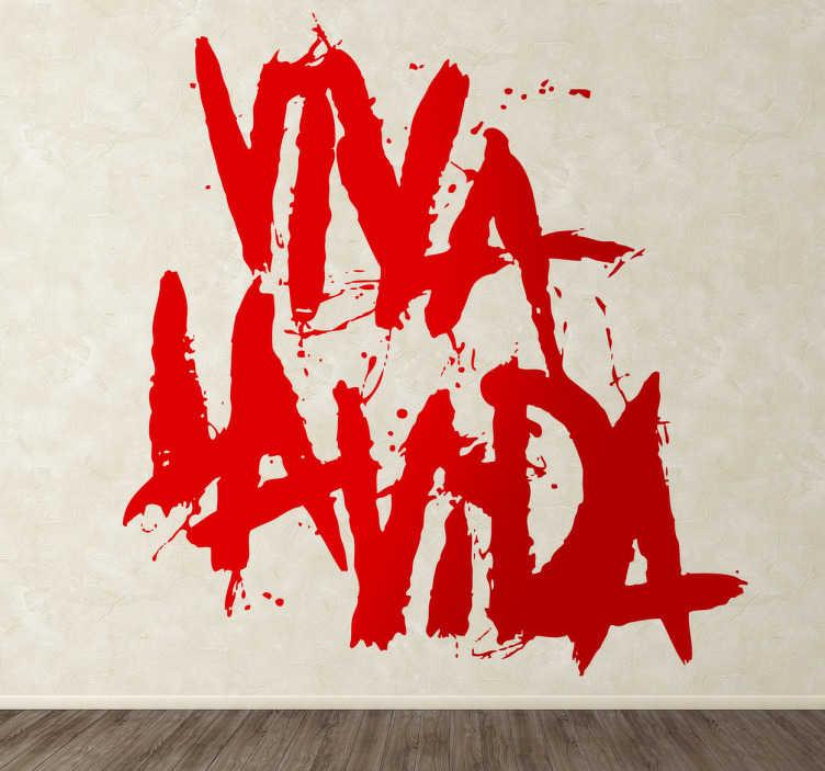 TenVinilo. Vinilo decorativo Viva la Vida Coldplay. Adhesivo con el título del disco de la banda británica liderada por Chris Martin.