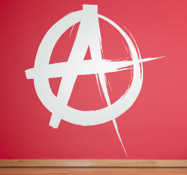 Sticker décoratif symbole anarchiste