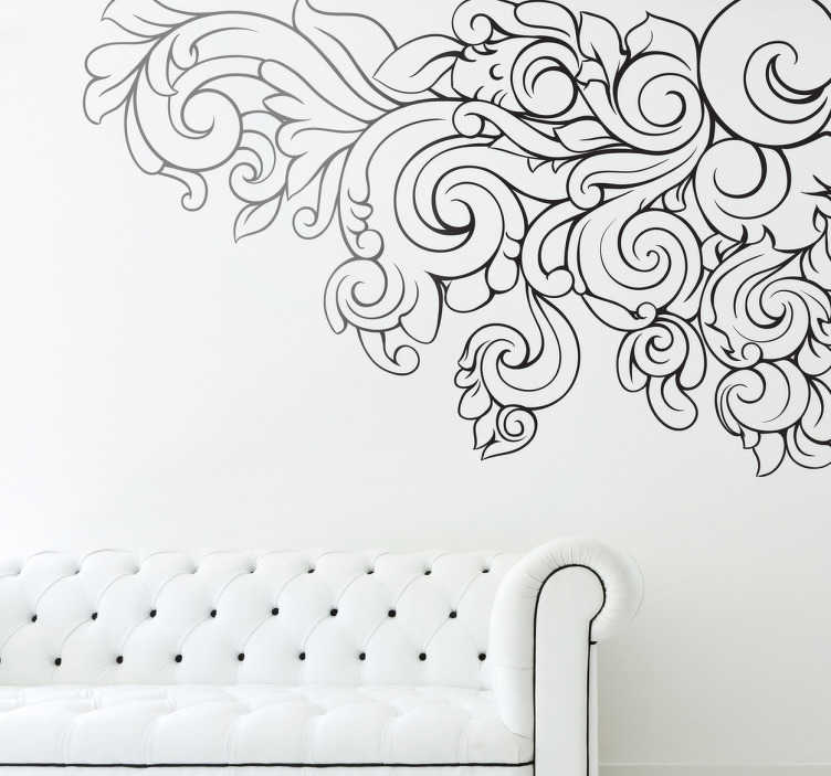 TenStickers. Vegetable Corner Wall Sticker. Wall Stickers - Classic floral motif baroque design to add an elegant touch to your home. High quality decals at great prices.