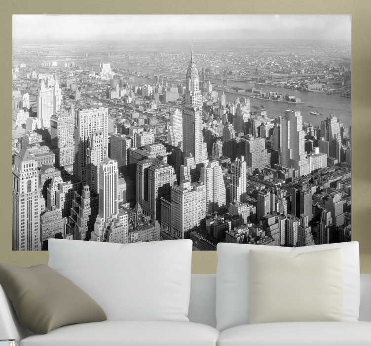 Wandtattoo New York Gebäude