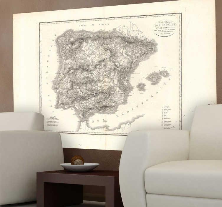 Vinilo mapa España 1823