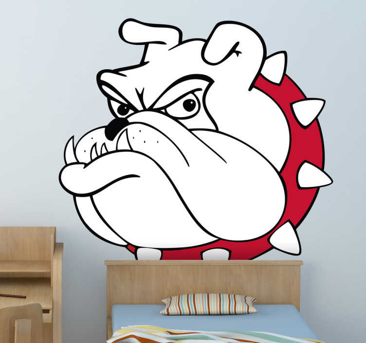 TenStickers. Colour Bull Dog Wall Sticker. Wall Stickers - Illustration of a grumpy bull dog. Ideal for adding some character to any area. Available in various colours and sizes.