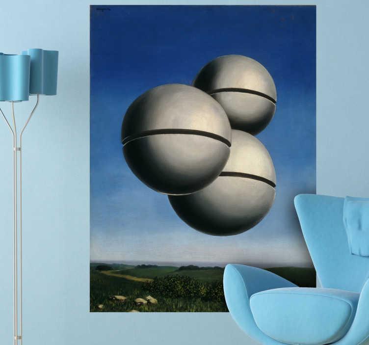 TenStickers. Magritte Kunstwerk Aufkleber. Hier finden Sie ein Kunstwerk des belgischen Künstlers Rene Magritte als Wandtattoo.