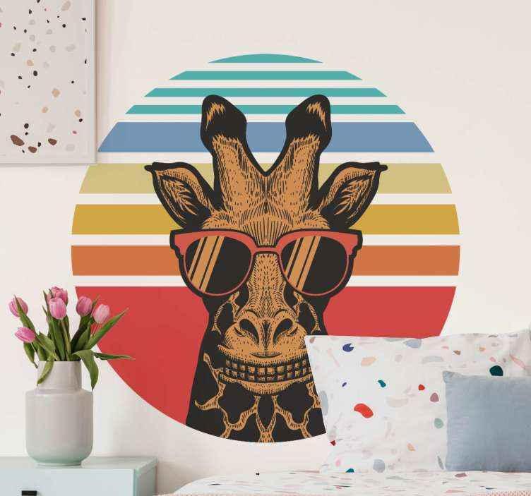 Kids Room Wall Decal Bright Gingham Design Boy Room Wall Decal Jungle Animal wall decal Safari Wall Decal Tree Wall Decal