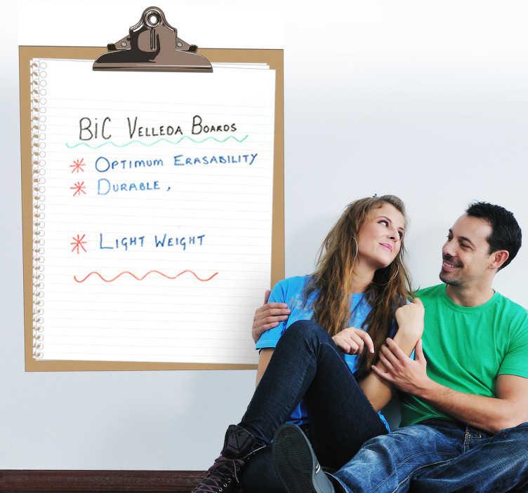 sticker ardoise velleda bloc note tenstickers. Black Bedroom Furniture Sets. Home Design Ideas