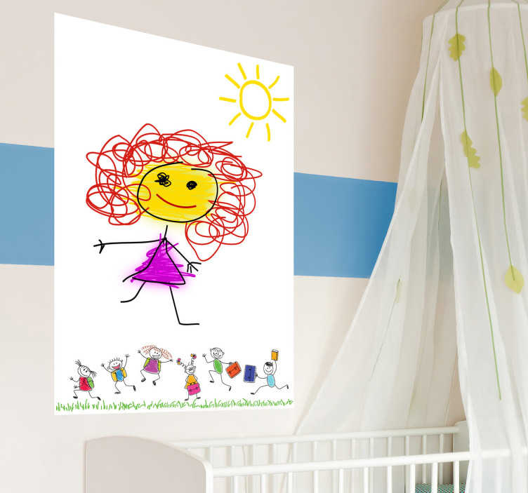TenStickers. Jumping Children Whiteboard Sticker. Whiteboard;Kids themed;design;ideal for decorating any room, also practical for drawing and writing notes. Perfect for any room