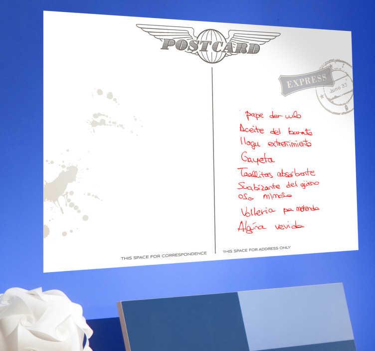 Naklejka biała tablica pocztówka z lat 50