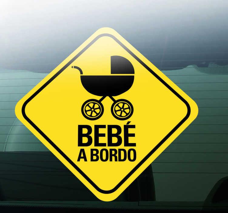 Sticker per auto bambino a bordo