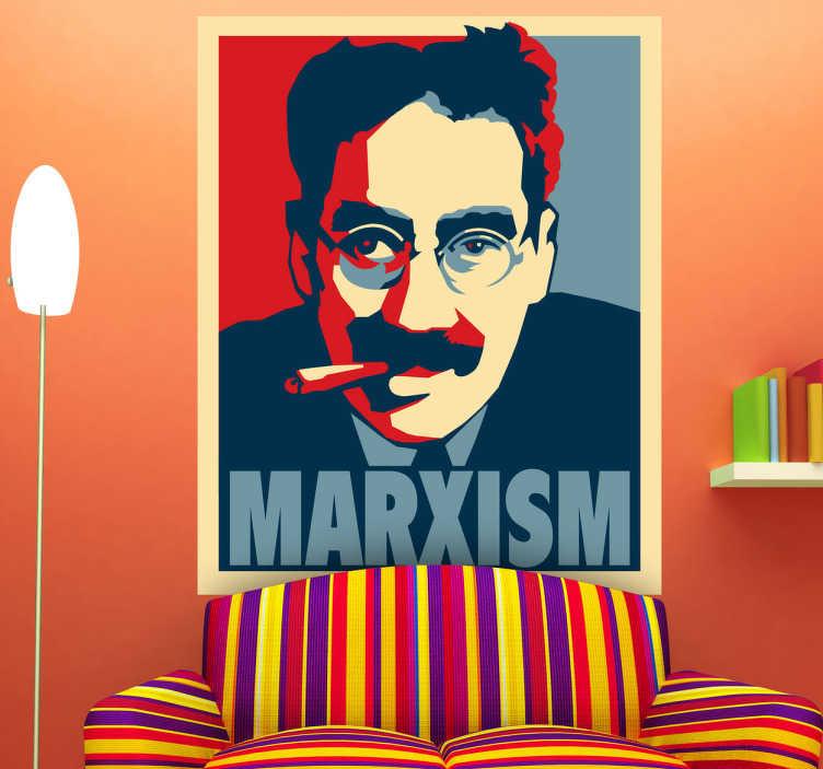 TenStickers. Autocollant mural poster Marx. Stickers mural illustrant le poster de Karl Marx.Sélectionnez les dimensions de votre choix.Idée déco originale et simple pour votre intérieur.