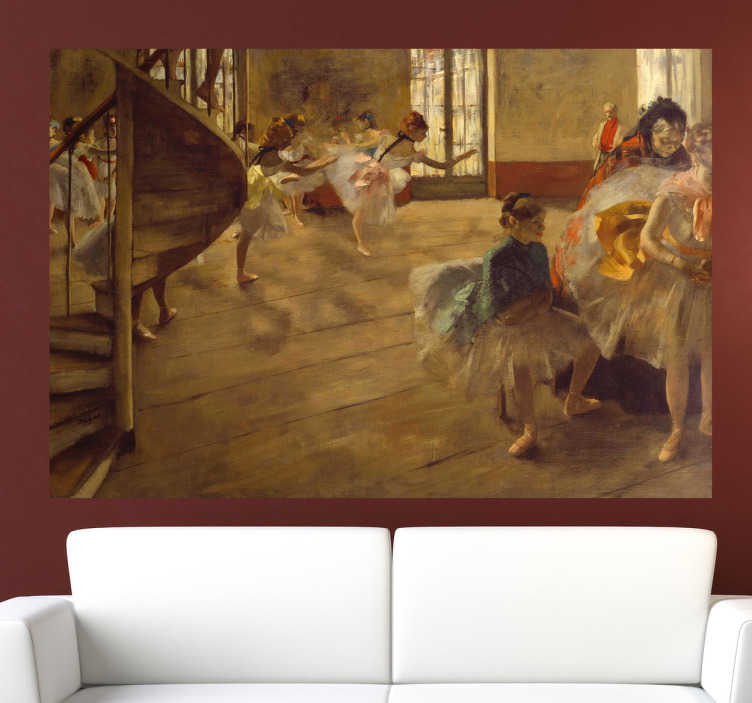 TenStickers. Degas Painting Sticker. Decorate your home with a piece of classic art. A painting of a ballroom by renowned French artist Degas.