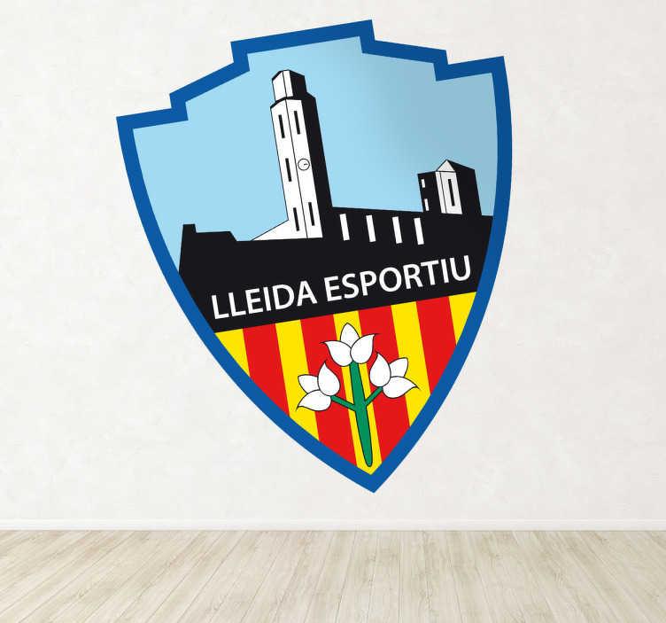 TenVinilo. Vinilo decorativo escudo Lleida. Pegatina con el emblema de uno de los más importantes equipos de fútbol catalanes.