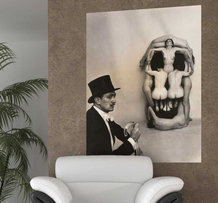 TenStickers. Dalí Photography Art Decal. A wall sticker of the famous artwork by Salvador Dalí in which he creates a skull figure by positioning people in the right place.