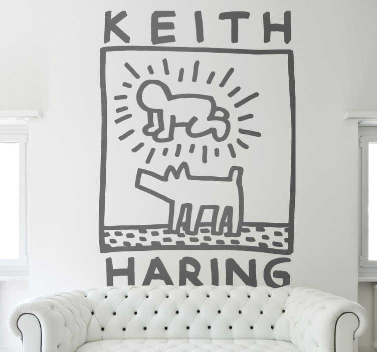 TenVinilo. Vinilo decorativo Keith Haring. Un vinilo decorativo para los aficionados al arte, ideal para colocar en las paredes de tu hogar y crear una atmósfera culta y reivindicativa. Keith Allen Haring fue un artista y activista social