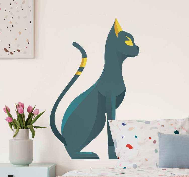 Tenstickers. Egiptian sphynx illustration religion dekal. Egyptisk sphynx illustration politik klistermärke för att dekorera något utrymme i ett hem. Den kan appliceras på vägg, dörr, möbler, fönster etc.