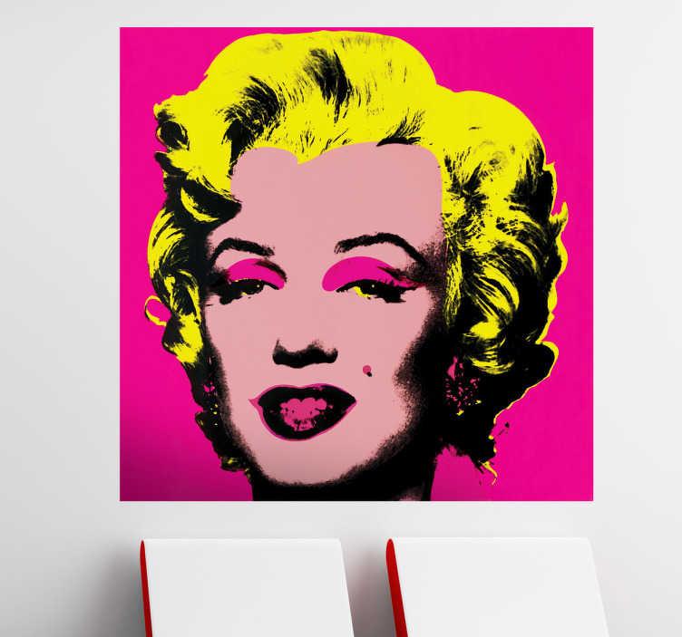 TenVinilo. Vinilo decorativo Marilyn Warhol. Famoso grabado adhesivo del pintor pop por excelencia con un retrato de la estrella de Hollywood.