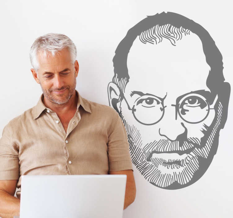 Steve Jobs Illustration Sticker