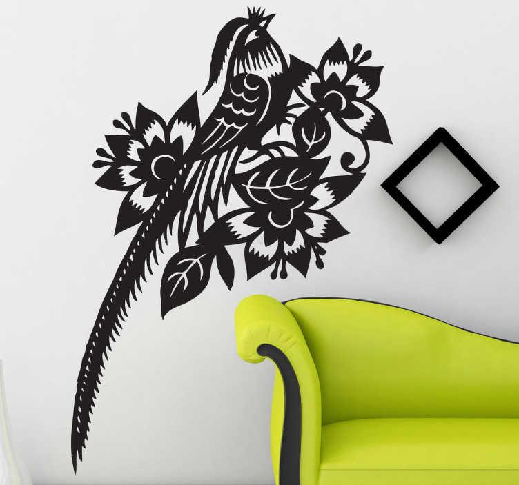 Sticker oiseau exotique