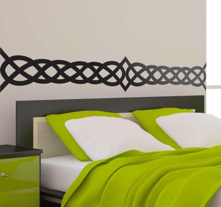 TENSTICKERS. セクシーなベッドヘッドボードウォールステッカー. あなたの部屋に中世の雰囲気を与える幾何学的な図案を示す素晴らしいベッドルームデカール。