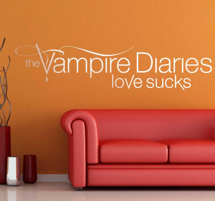 TenStickers. Aufkleber Vampire Diaries. Dieses Wandtattoo ist wunderbar für alle großen Fans der amerikanischen Serie The Vampire Diaries.