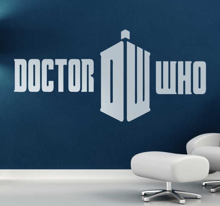 TenStickers. Autocolante decorativo doctor who. Autocolante decorativo de programas de TV que ilustra o logotipo do médico de ficção científica. Ideal para fãs!