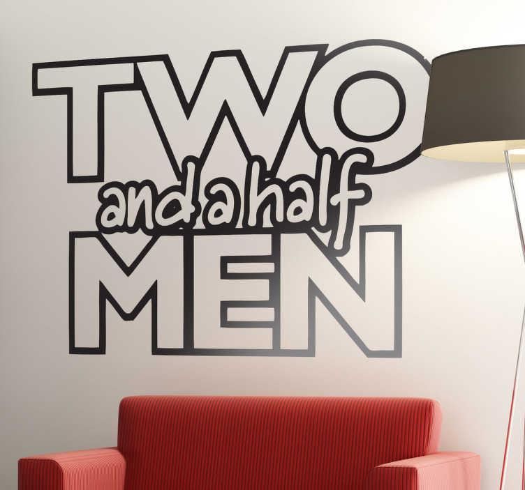 TenVinilo. Vinilo decorativo dos hombres y medio. Logo adhesivo de la famosa serie americana protagonizada por Charlie Sheen antes y por Ashton Kutcher ahora.