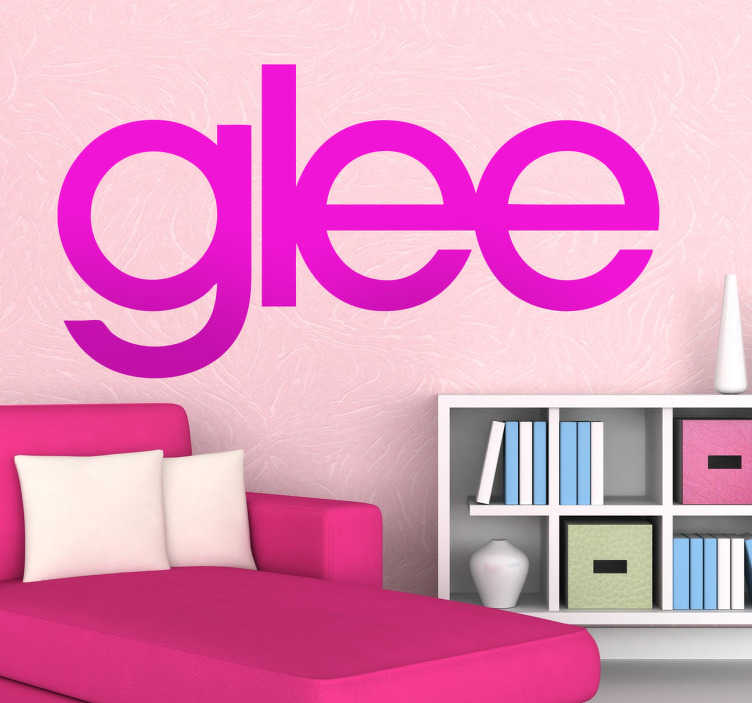 TenVinilo. Vinilo decorativo glee. Logotipo adhesivo de la famosa serie musical estadounidense.