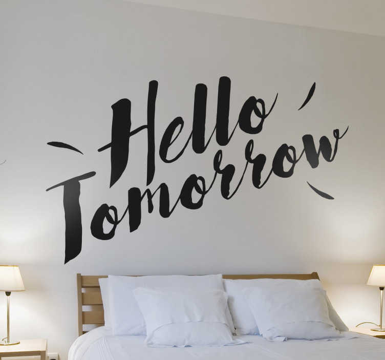 TenStickers. Personalised Calligraphic Text Sticker. Great wall decal to make your name or someone´s name stand out. Personalise this sticker the way you want!