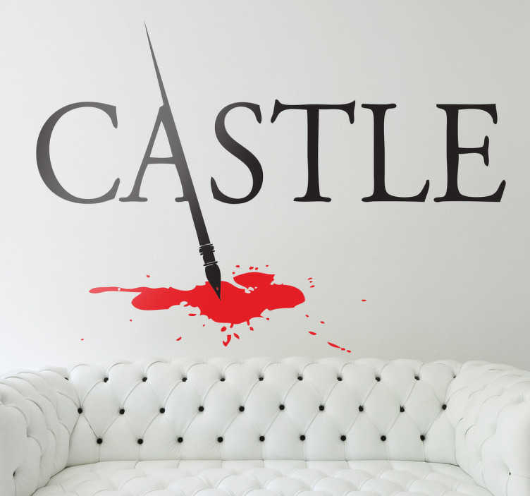 Vinilo decorativo logo Castle