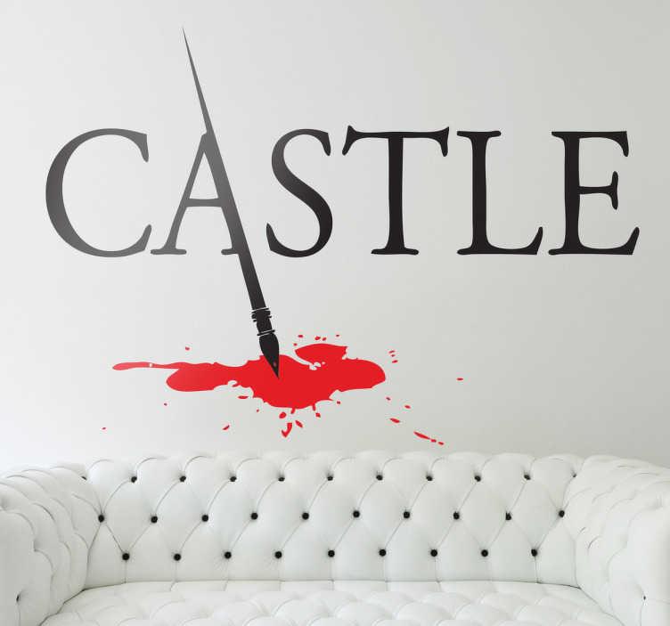 TenStickers. Castle Logo Sticker. Logo Sticker der bekannten,amerikanischen kriminal TV Serie Castle. dekoriere dein Zuhause mit diesem dekorativen Aufkleber
