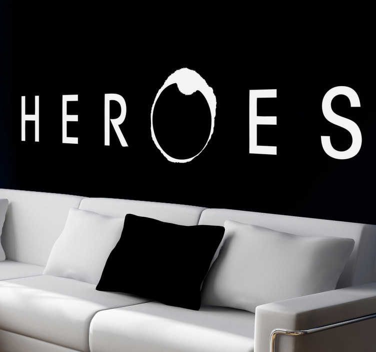 Sticker decorativo logo Heroes
