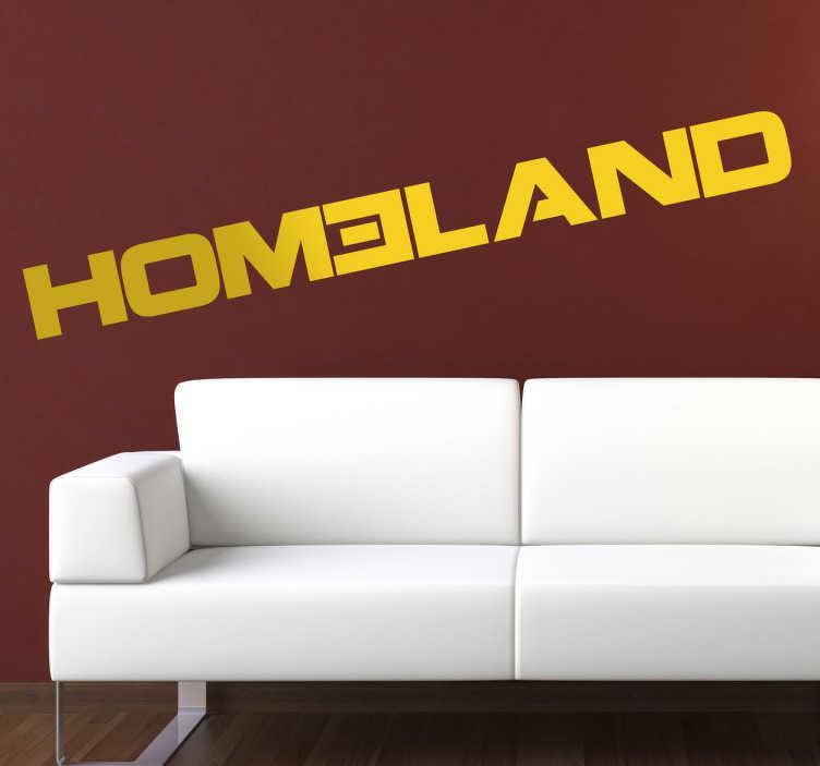 TenStickers. Sticker logo Homeland. Stickers représentant le logo de la série américaine Homeland.Sélectionnez les dimensions de votre choix pour personnaliser le stickers à votre convenance.