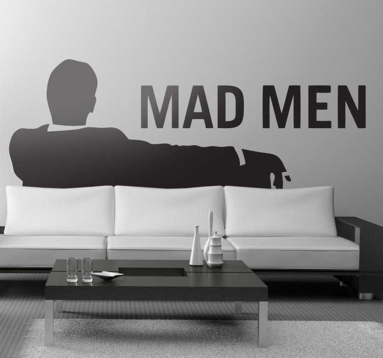 TenStickers. Sticker decorativo logótipo Mad Men. Sticker decorativo inspirado no logótipo da famosa série dos anos 60, Mad Men, perfeito para dar ao seu quarto uma atmosfera retro e original!