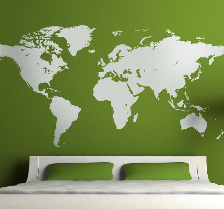 World map wall sticker tenstickers world map wall sticker gumiabroncs Image collections