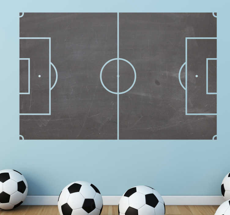 TenStickers. Football Field Blackboard Sticker. Blackboard decals - Football pitch board. Ideal for planning team tactics and positions. Perfect for a teens room or sports club.
