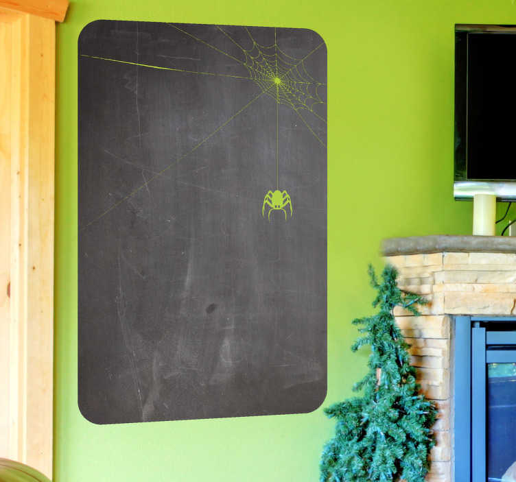 TenStickers. Spider Web Blackboard Sticker. Blackboard Stickers- Slate sticker design ideal for decorating any room, also practical for drawing and writing notes.