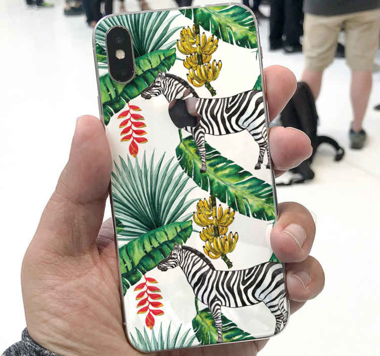 TENSTICKERS. 自然のパターンiphoneデカール. ゼブライフォンデカールでこの素敵なカラフルで魅力的な自然のパターンであなたの電話のバックスペースを美しくしてください。塗布が簡単で粘着性があります。