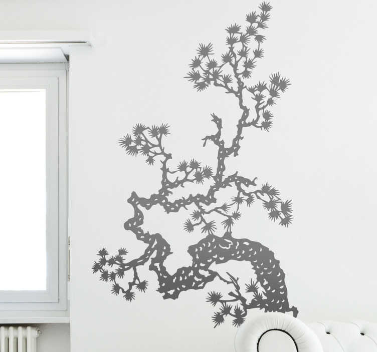TenStickers. Naklejka azjatycka gałąź. Naklejka dekoracyjna przedstawiająca fragment gałęzi azjatyckiego, orientalnego drzewa.