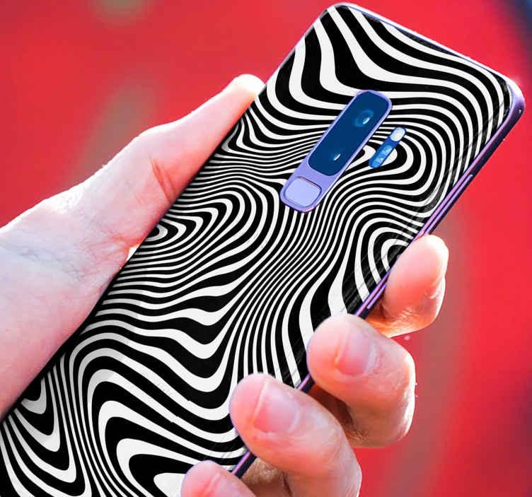 TENSTICKERS. ゼブラ3d効果サムスンデカール. この素敵なゼブラ3d効果サムスンステッカーでサムスンの携帯電話を飾ります。デザインには反射効果があり、携帯電話を美しく見せます。