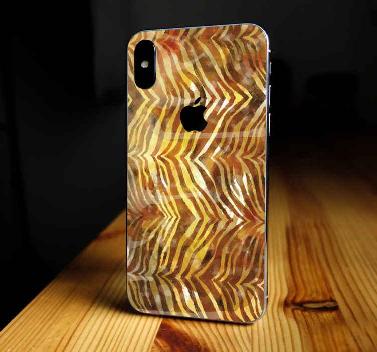 TENSTICKERS. ゼブラ水彩テクスチャiphoneデカール. Iphoneを美しくするためのゼブラ水彩テクスチャiphoneステッカー。それは素敵で、あなたの電話の保護カバーとしても機能します。