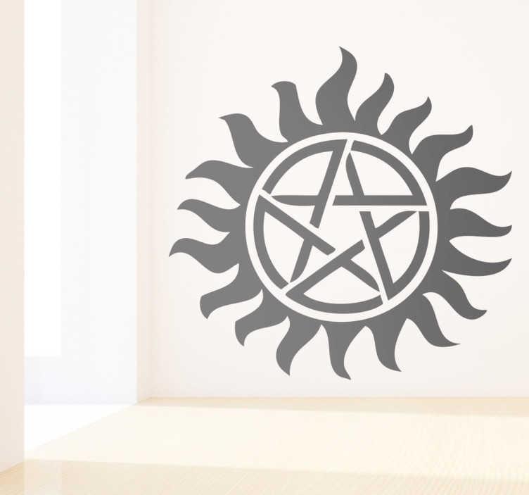 TenVinilo. Vinilo decorativo Sobrenatural. Adhesivo del tatuaje que llevan los hermanos Winchester en su pecho para protegerse del mal.